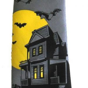 HAUNTED HOUSE WITH BATS TIE