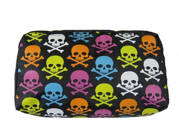 MULTI-COLORED SKULLS MAKE-UP BAG