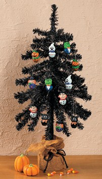 BLACK CHRISTMAS / HALLOWEEN TREE 25 INCHES TALL