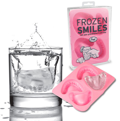 FROZEN SMILES DENTURES ICE CUBE TRAY