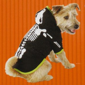 GLOW-IN-THE-DARK DOG OR CAT SKELETON COSTUME - LARGE
