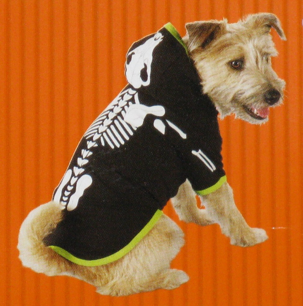 GLOW-IN-THE-DARK DOG OR CAT SKELETON COSTUME - LARGE & THE-DARK DOG OR CAT SKELETON COSTUME - X-SMALL - 6-ft-under