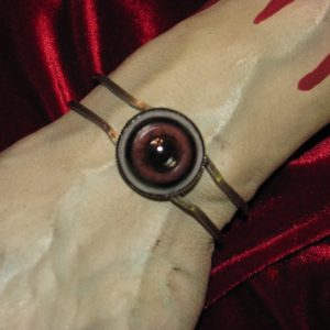 BROWN CREEPY CREATURE EYEBALL BRACELET