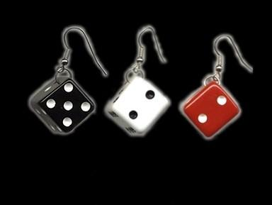ROCKABILLY DICE EARRINGS