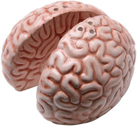 BRAIN SALT & PEPPER SHAKERS