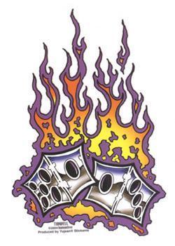 FLAMING DICE