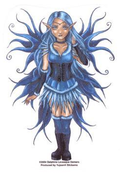 FAIRY IN A BLUE CORSET