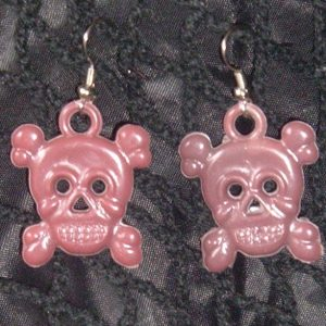 JOLLY-ROGER EARRINGS - PURPLE