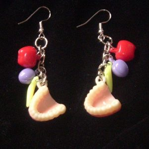 TEETH & FRUIT EARRINGS