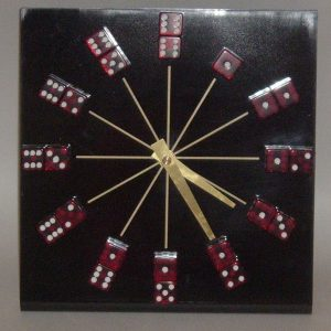 RED DICE CLOCK LARGE