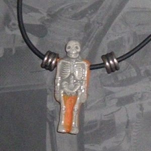 dia de los muertos SKELETON NECKLACE - ORANGE