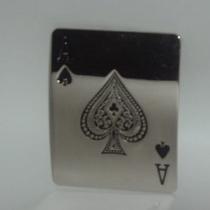 ACE OF SPADES BELT BUCKLE - LARGE!