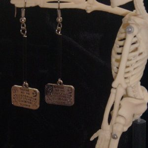 OUIJA BOARD DANGLE EARRINGS