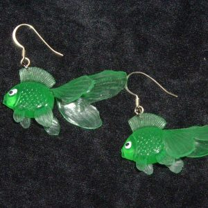 GOLDFISH EARRINGS (green)