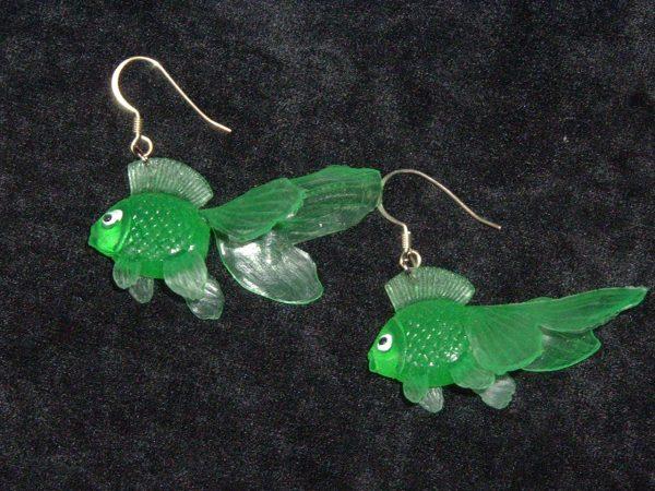 GOLDFISH EARRINGS (green)