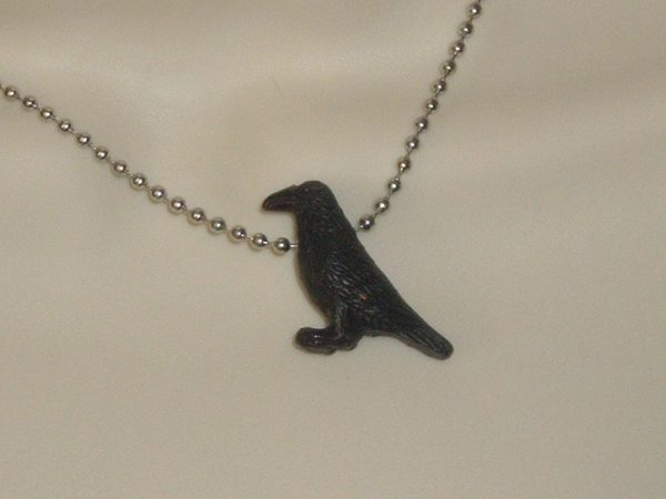 RAVEN NECKLACE - LEATHER CORD