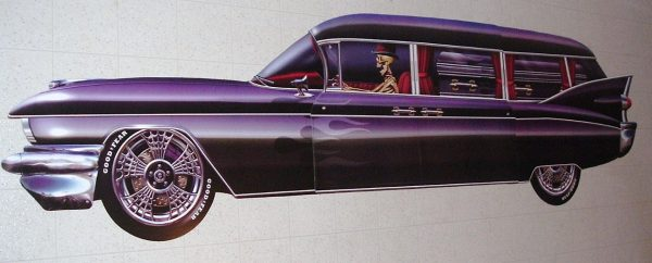 1959 CADDY HEARSE WALL DECOR 6 FT LONG!!