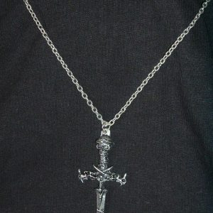 PAGAN CROSS WITH SKULLS AND SWORDS