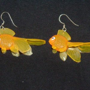 GOLDFISH EARRINGS (orange)