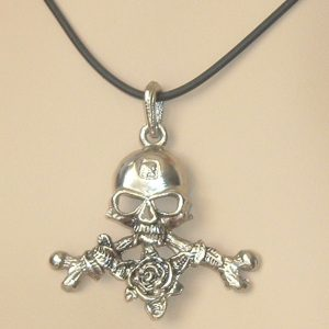ALCHEMY GOTHIC 'BONES AND ROSES' NECKLACE