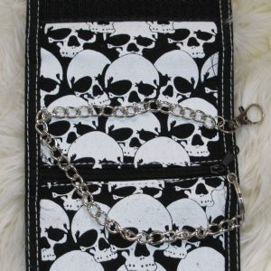 SKULL WALLET WITH CHAINS