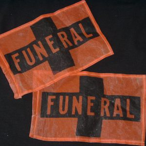 VINTAGE FUNERAL FLAGS (PAIR)